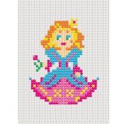 """Набор для вышивания бисером для малышей. 33х40 кл. """"Принцесса"""" (арт. НШ-7307)"""