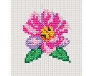 """Набор для вышивания бисером для малышей. 33х40 кл. """"Цветок"""" (арт. НШ-7309)"""