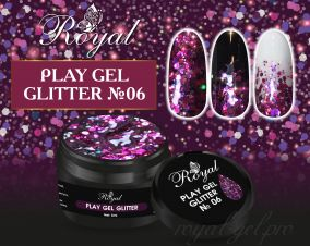 06 Gel PLAY GLITTER  Royal 5мл.
