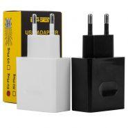 Двойной сетевой USB-адаптер BASEN BA003 2000mA (2 цвета)