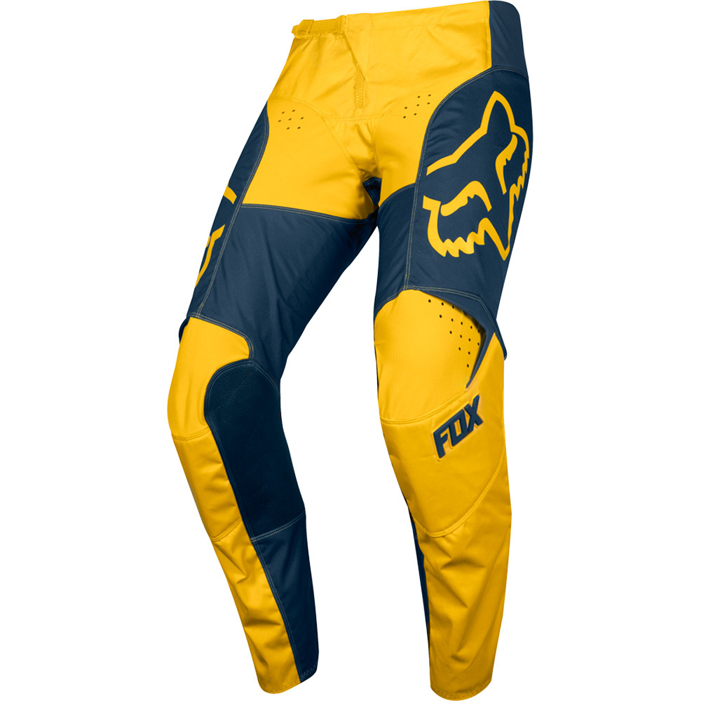 Fox - 2019 180 Przm Navy/Yellow штаны, сине-желтые