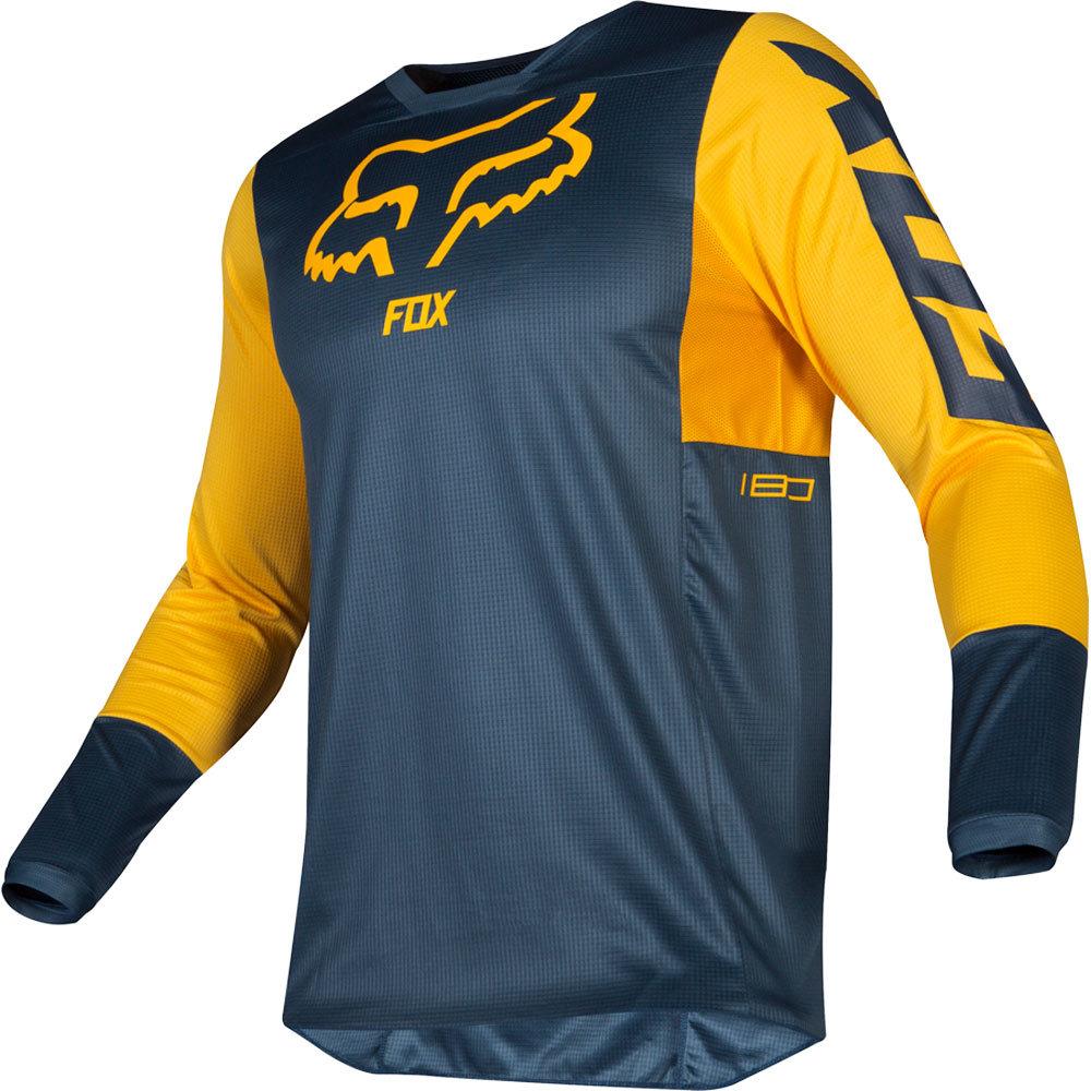 Fox - 2019 180 Przm Navy/Yellow джерси, сине-желтое