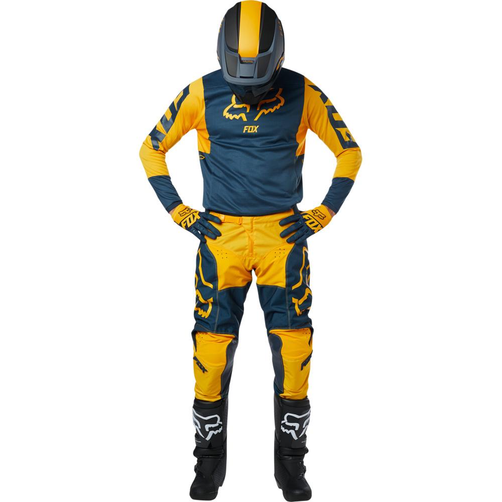 Fox - 2019 180 Przm Navy/Yellow комплект джерси и штаны, сине-желтые