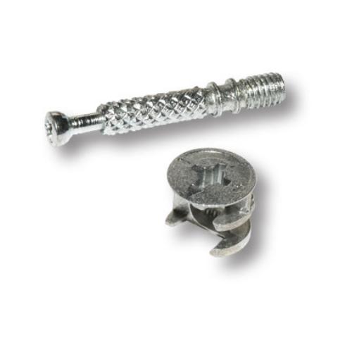 Эксцентриковая стяжка (Эксцентрик 15/16+дюбель саморез) под самоклейки D18