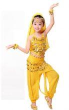 Восточные танцы костюм детский танцевальный желтый