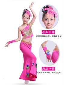 Детский танцевальный костюм для девочки Розовый