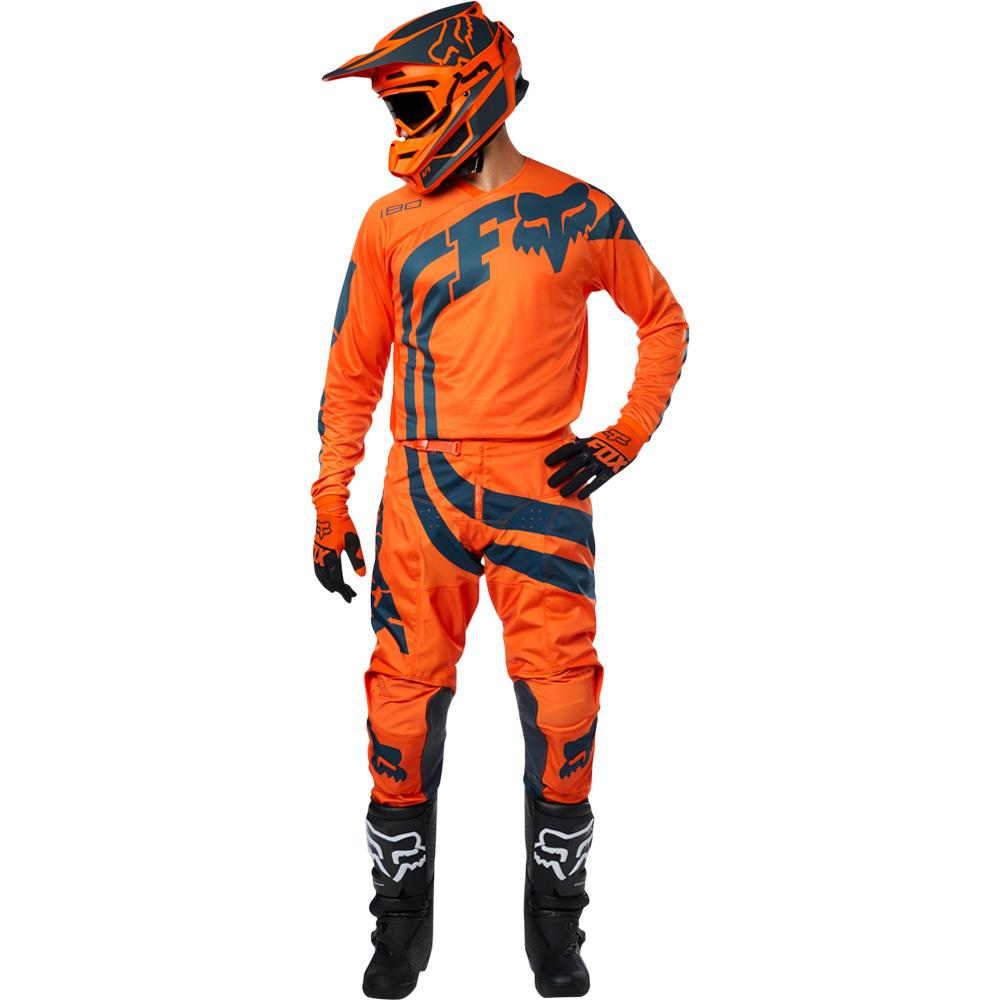Fox - 2019 180 Cota Orange комплект джерси и штаны, оранжевые