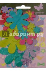 Цветы с блестками для декора, 25 штук (0620264)