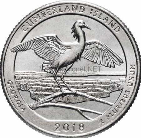 25 центов США, 44-й Национальный парк -Камберленд Айленд