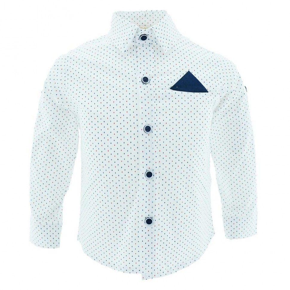 Рубашка с длинным рукавом для мальчика 2-5 (белый)