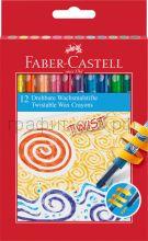 Мелки восковые 12цв.Faber-Castell выкручивающиеся 120003