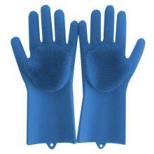Многофункциональные силиконовые перчатки Magic Brush, Синий