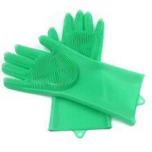 Многофункциональные силиконовые перчатки Magic Brush, Салатовый
