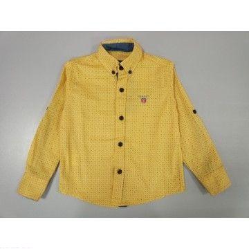 "Рубашка ""GANT"" желтая в точку"
