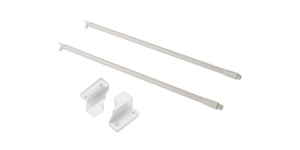 Комплект рейлингов, держатель задней стенки, белый (500 мм)