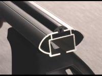 Багажник на крышу Mazda 2, Lux, аэродинамические  дуги (53 мм)