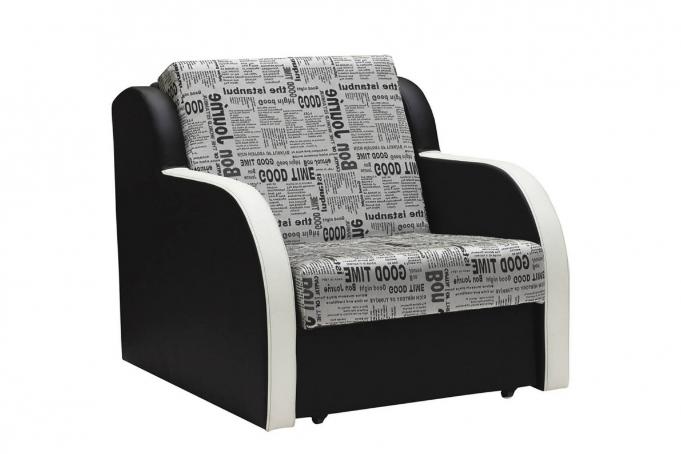 Ремикс 1 (03) кресло-кровать Газета 2605