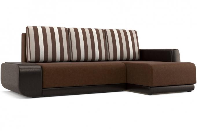 Соло (13) диван угловой правый (УП) Bruno 4/Paloma 1701