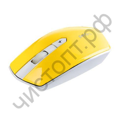 "Мышь беспроводн. Perfeo ""EDGE"", 4 кн, DPI 800-1600, USB, жёлтый (PF-838-WOP-Y)"