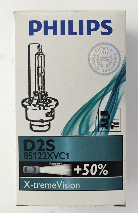 Лампа ксенон D2S 5000K PHILIPS +50% 85122XVC1