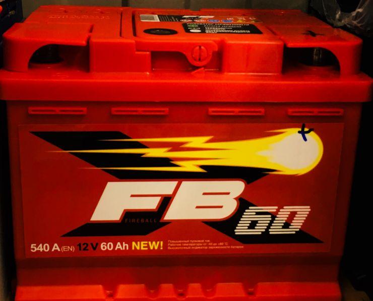 Аккумулятор FB 60 Ah 540A (+R)