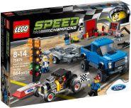 Lego Speed Champions 75875 Ford F-150 Raptor и гоночный автомобиль Ford