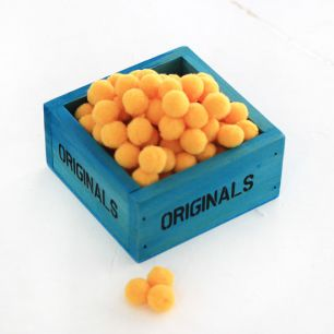 Помпоны для кукол, 1 см, Желтые