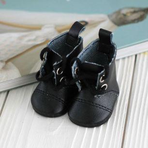 Обувь для кукол - сапоги 5 см (черные)