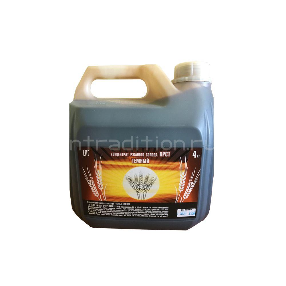 Концентрат ржаного солода, темный, 4 кг, (Россия)
