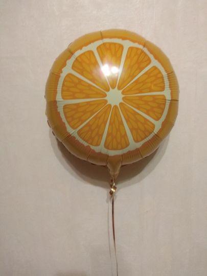 Апельсин - шар из фольги - сочные фрукты с гелием