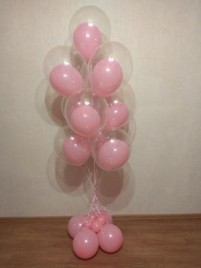 Фонтан из 10 шаров в шаре