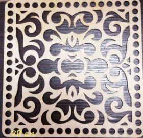 Дно для корзины квадрат резной 20 см фанера 3 мм
