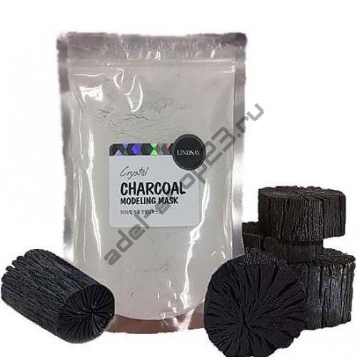 LINDSAY - Альгинатная маска для лица с активированным углем Premium Charcoal Modeling Mask Pack 240 г