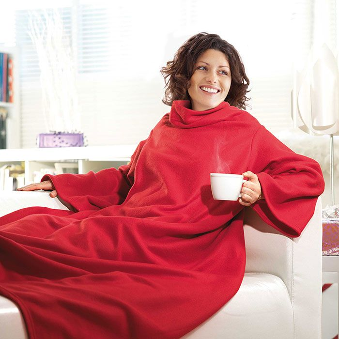 Одеяло-плед с рукавами Snuggie (красный)