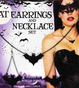 Набор Летучая Мышь (Ожерелье и Серьги)