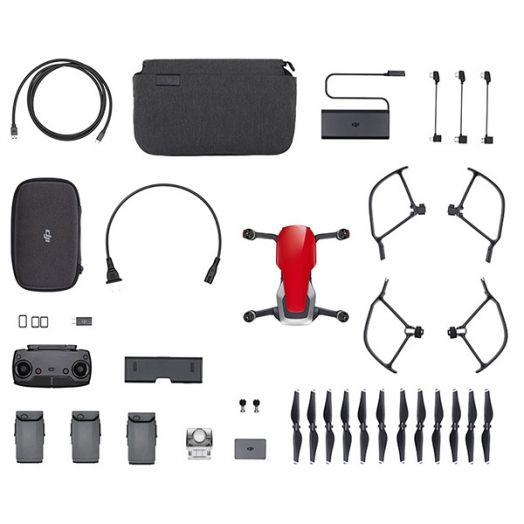 Квадрокоптер DJI Mavic Air Fly More Combo Flame Red (Красный)