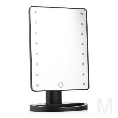 Зеркало Large LED Mirror (черное)
