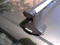 """Багажник на крышу Renault Symbol, Атлант, аэродинамические дуги """"Эконом"""""""