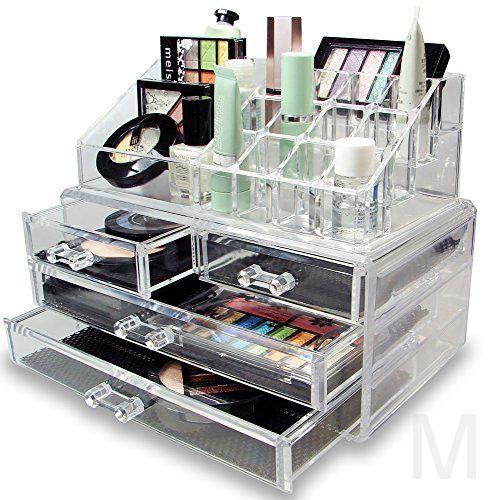 Акриловый органайзер для косметики Cosmetic Storage Box (2 ящичка)