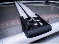 Багажник на рейлинги Opel Zafira A 1999-2005, FicoPro R-53, серебристый, крыловидные аэродуги