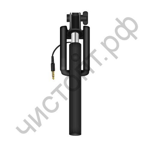 Монопод для селфи OXION OX-SSWD002, телескопический 190 - 850 mm, проводной (Jack Male 3,5), черный (OX-SSWD002BK)