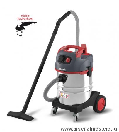 Пылесос профессиональный для работы с электроинструментом, сухой и влажной уборки Starmix uClean ARDL-1435 EHP 1,4 кВт 35л 017372