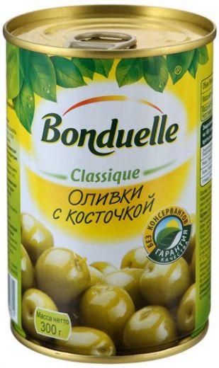 Оливки Bonduelle с косточкой, 300г