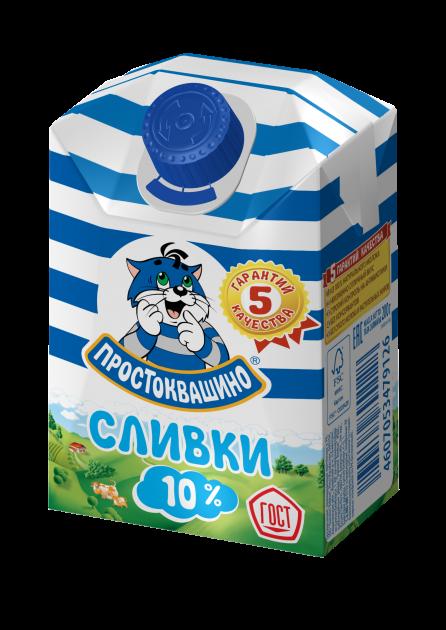 Сливки Простоквашино  10% комбифит 0,2