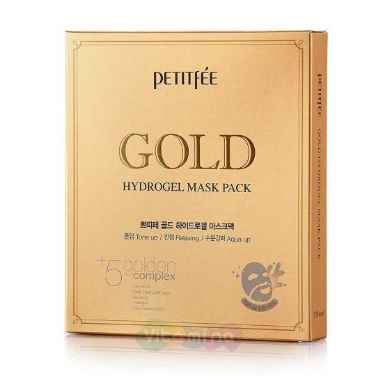 Petitfee Золотая гидрогелевая маска Gold Hydrogel Mask Pack