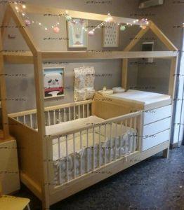 Кровать-домик с ящиками №В
