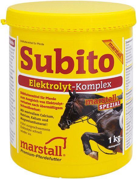 SUBITO / СУБИТО, подкормка для лошадей с комплексом электролитов 1 и 3 кг Marstall