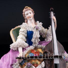 Дама с виолончелью, кружевная, Дрезден, Германия, нач. 20 в.