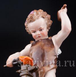 Амур, кующий сердце, Meissen, Германия, кон. 19 нач. 20 в.