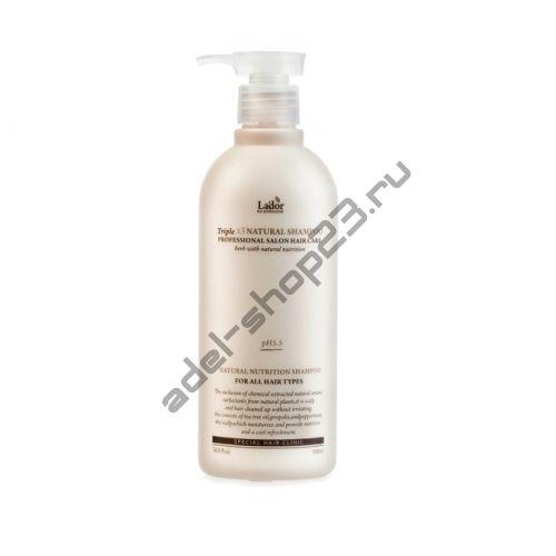 Lador - Профессиональный шампунь с протеинами шелка и кератиномTriplex Natural Shampoo 530 ml